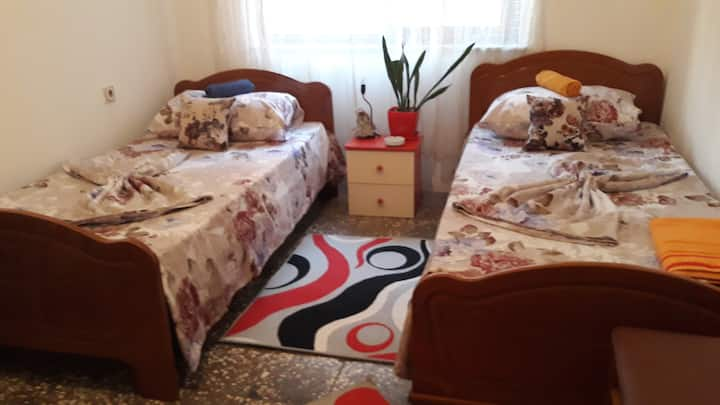 Antonio's  nikla village two single beds room