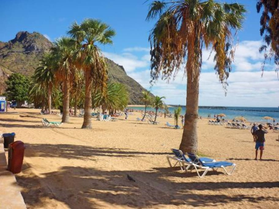Playa Las Teresitas solo 4 kms de distancia.