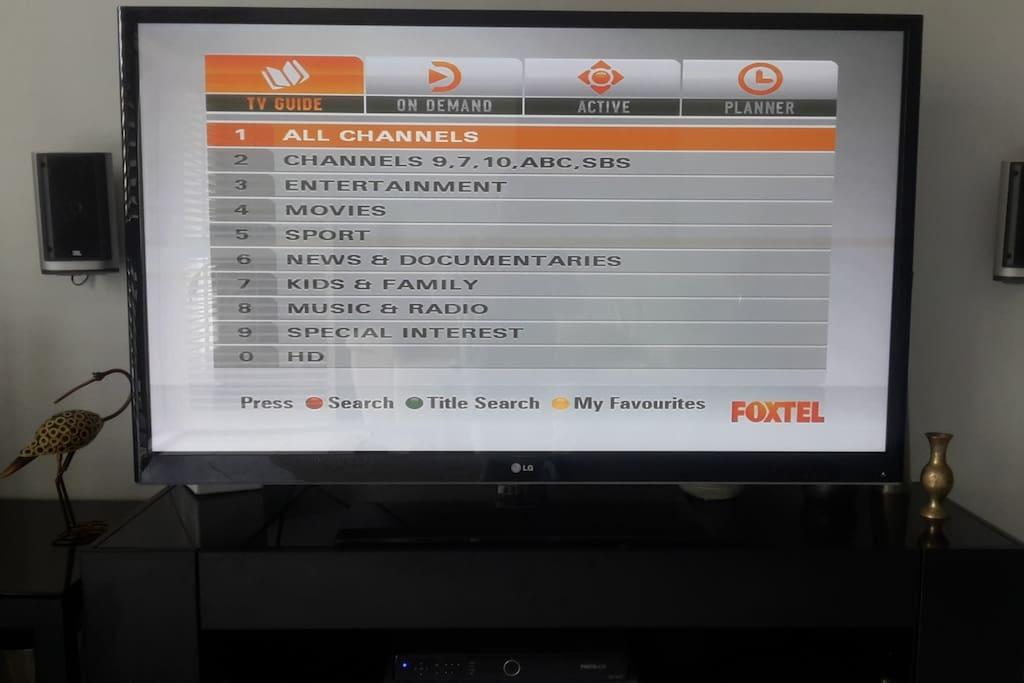 FOXTEL Platinum. Sport's, Movies and Children's channels.