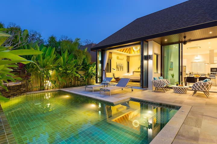 Striking high-luxury pool villa☯2 Bedrooms☯Rawai