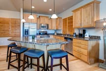 Fully-Equipped Kitchen - granite counter tops, stainless steel appliances, pots/pans, dishware, utensils, glassware, Crock pot, toaster, blender, coffee pot