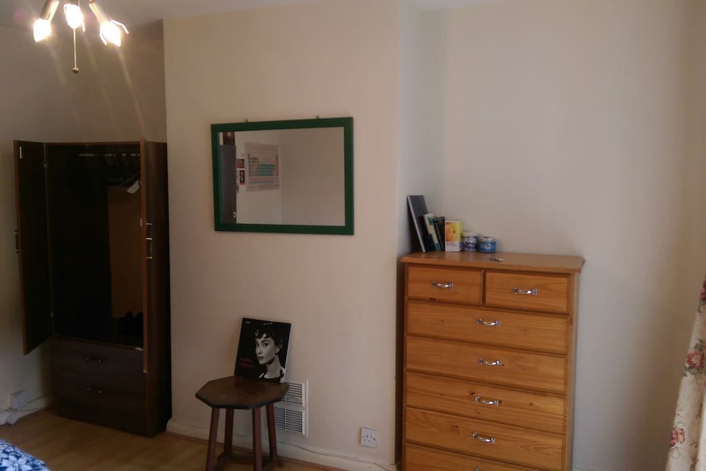 Cupboard and set of drawers