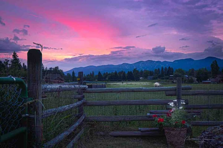 ROCKING HEART RANCH... animals, views & privacy.