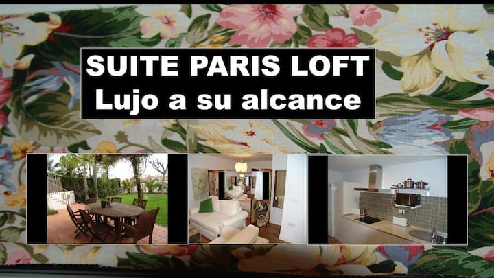 Suite Paris Marbella center. Garden, swimming pool