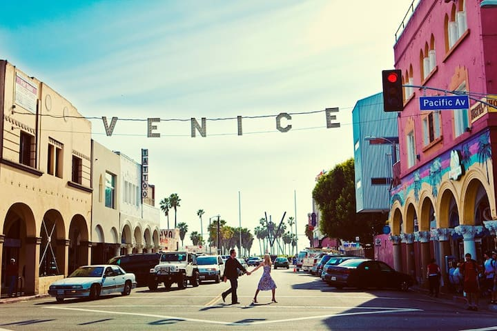 The artsy and bohemian Venice Beach.