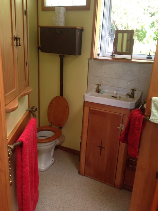 Adjoining bathroom and toilet to guest room