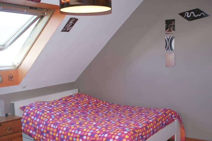 1 chambre  calme à proximité immédiate de nantes