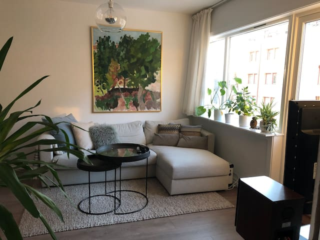 5 min walk train/bus and Aker Brygge - cozy flat