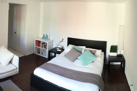 The apartment is located in Murray Hill, a perfect spot to be in the middle of Manhattan but in a quiet and nice neighborhood. 24 Hour doorman, elevator and laundry in building.