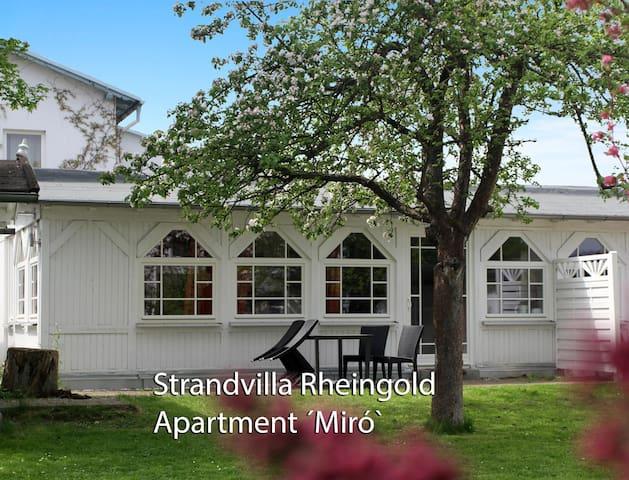 Villa Rheingold – Ferienwohnung Miró – Strandnah