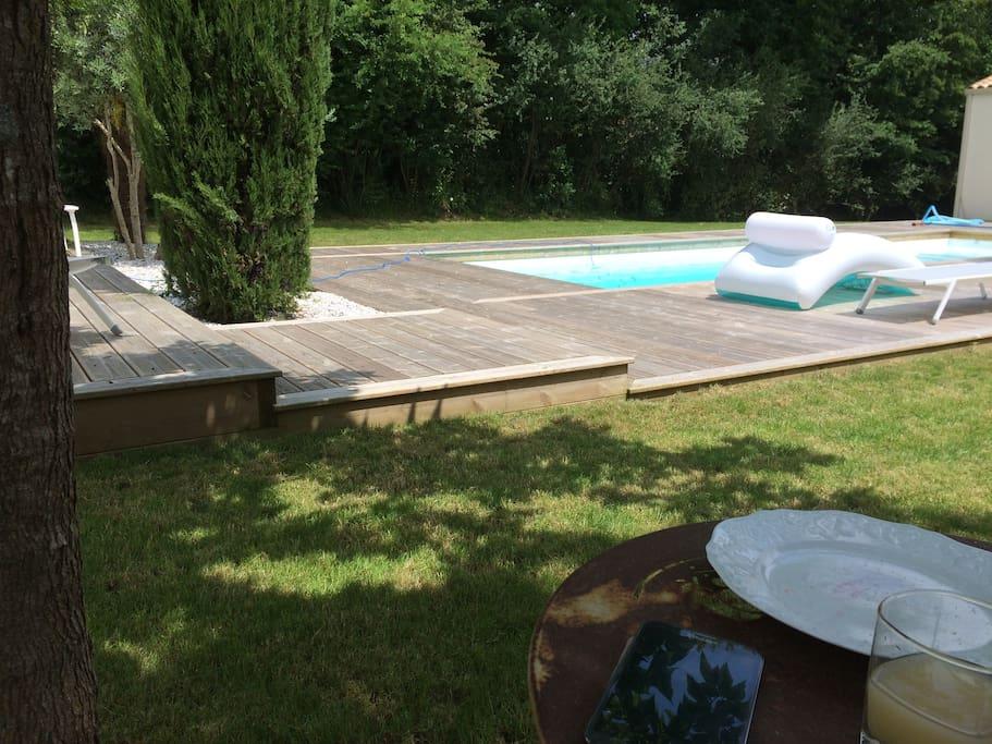 accès à la piscine