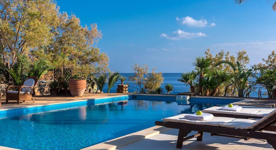 Beachfront Cozy Luxury Villa in South Crete! - Makrygialos - Vila