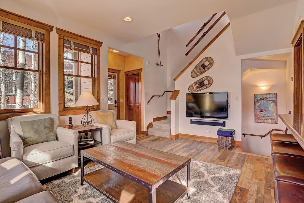 Relax with friends and family in the cozy living room