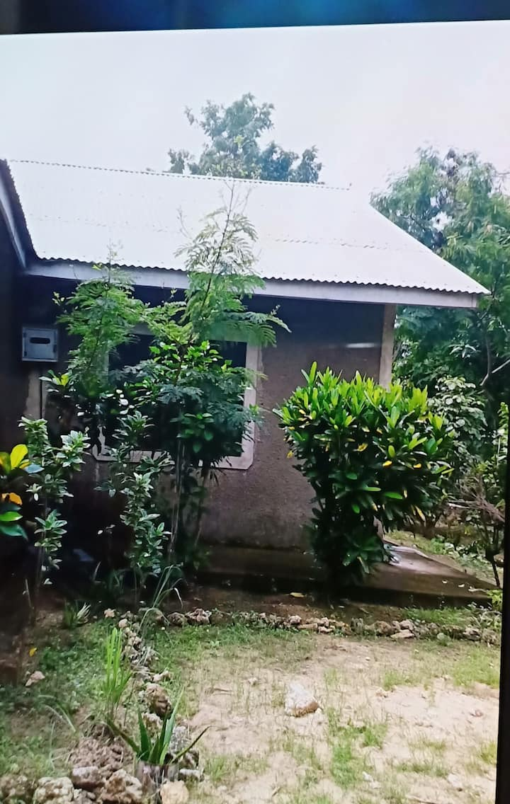 Mombasa farm house,natural trees ,car available.