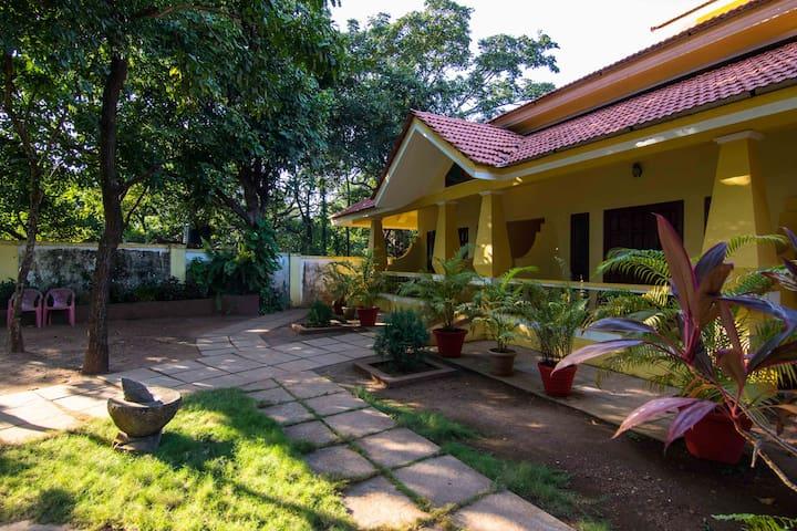 Standard AC room in a Goan-Portuguese mansion