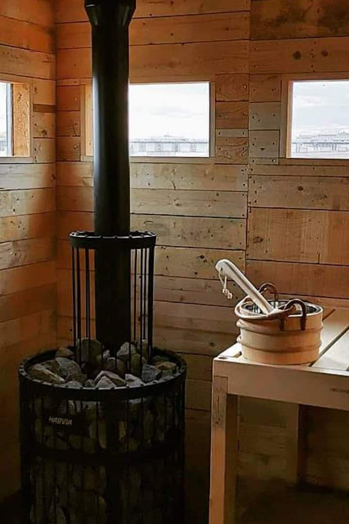 Large wood fired sauna