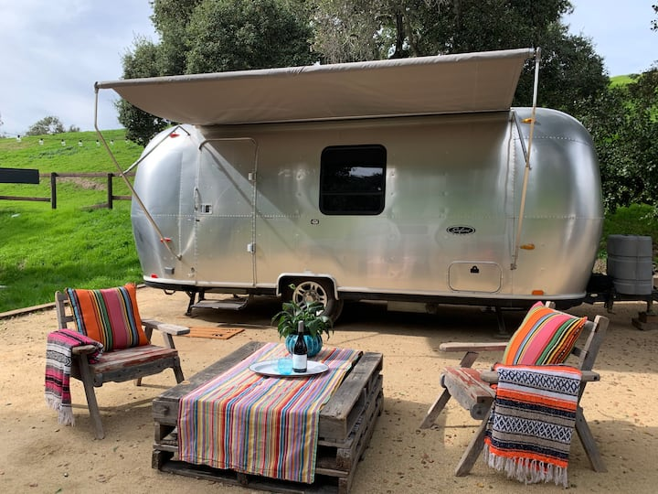 Airstream glamping on 20 acre ranch in Santa Ynez