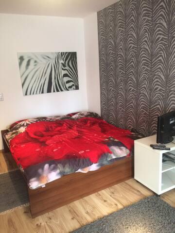 Stylisches großes Zimmer mit guter Ausstattung