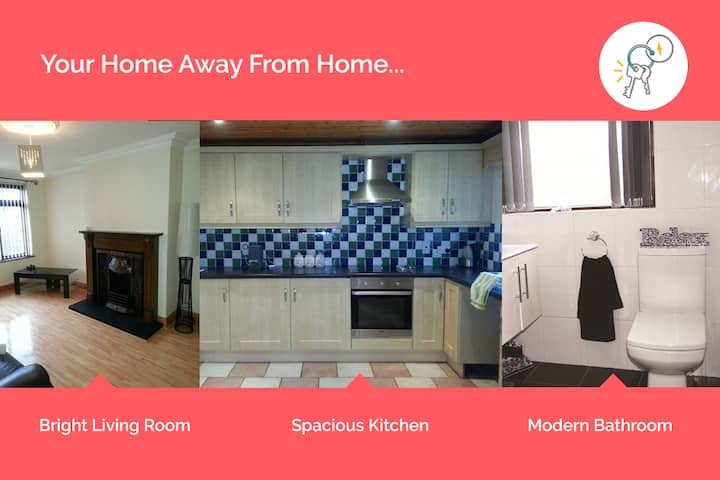 Mins From Newry Centre | Clean & Quiet 2 Bed House