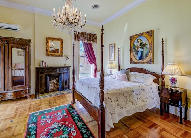 #2 Cotton Room - queen and double beds; shared bath; second floor