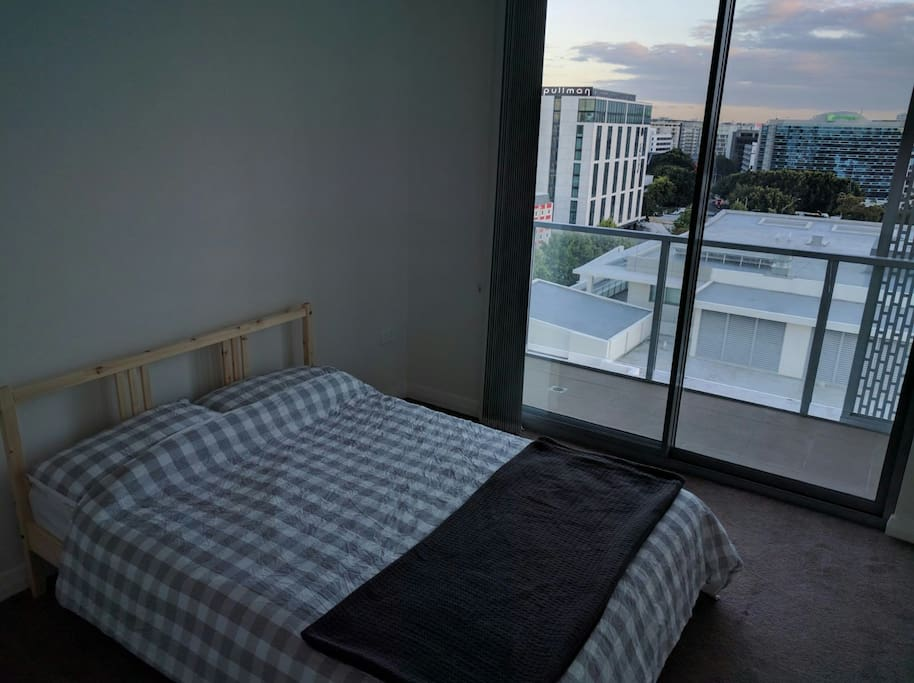 Modern room with your own balcony access and view over Sydney