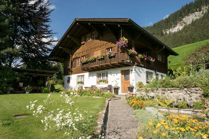 Gstaad Duplex Flat - Amazing Lake Chalet with pond