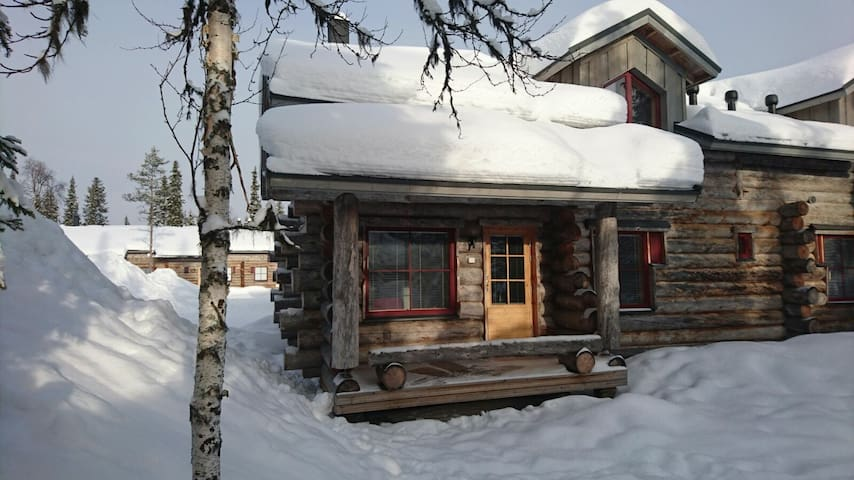 Te Bheag, traditional log cabin in the Arctic