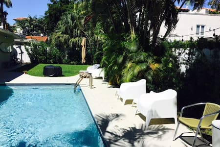 Island Paradise home w/pool and golf cart too! - Key Biscayne - House