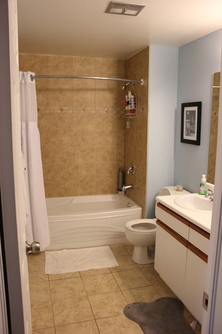 The shared bathroom. There are two sinks as well!