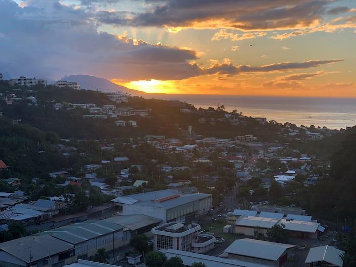 Bel appartement belle vue à Papeete