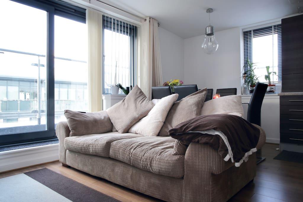 Our super comfy sofa!!