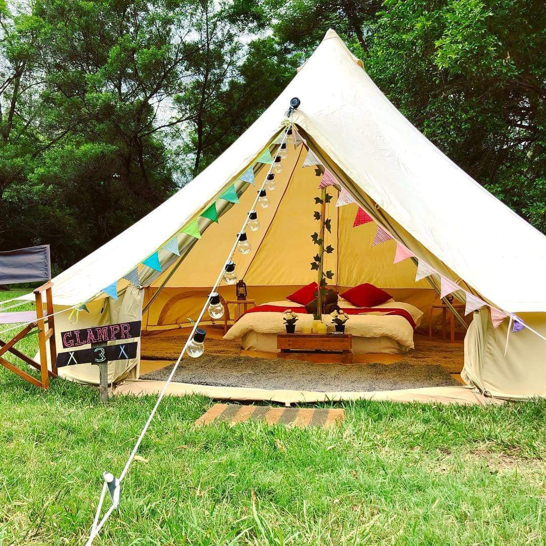 View Photos & Luxury Glamping Bell Tent at Bents Basin - Tents for Rent in ...