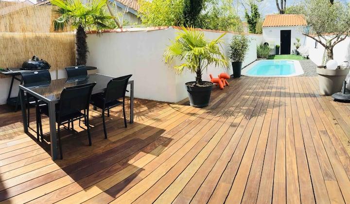 La Rochelle 160m2 ;terrasse,piscine près Île de Ré
