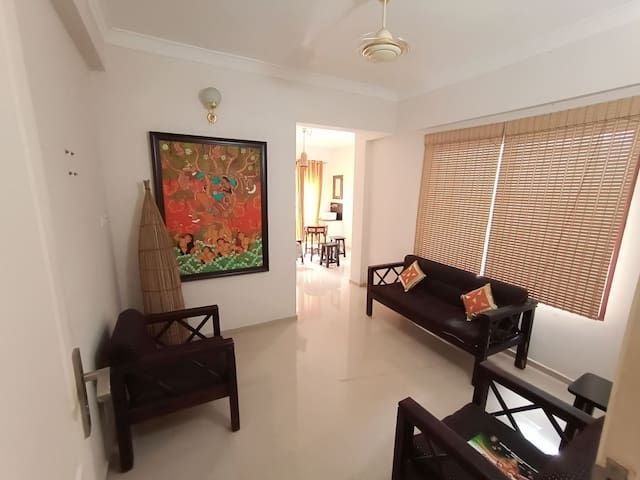 2BHK. Famly space. 0.7 km Guruvayr tmple|Ground fl