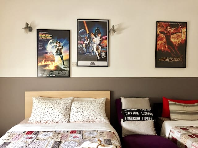Our first cinema theme apartment!