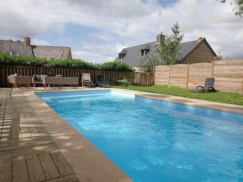 Gite avec piscine chauffée