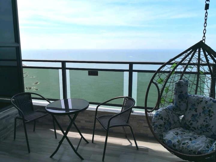 南澳岛180度大阳台看日出海景豪华大床房