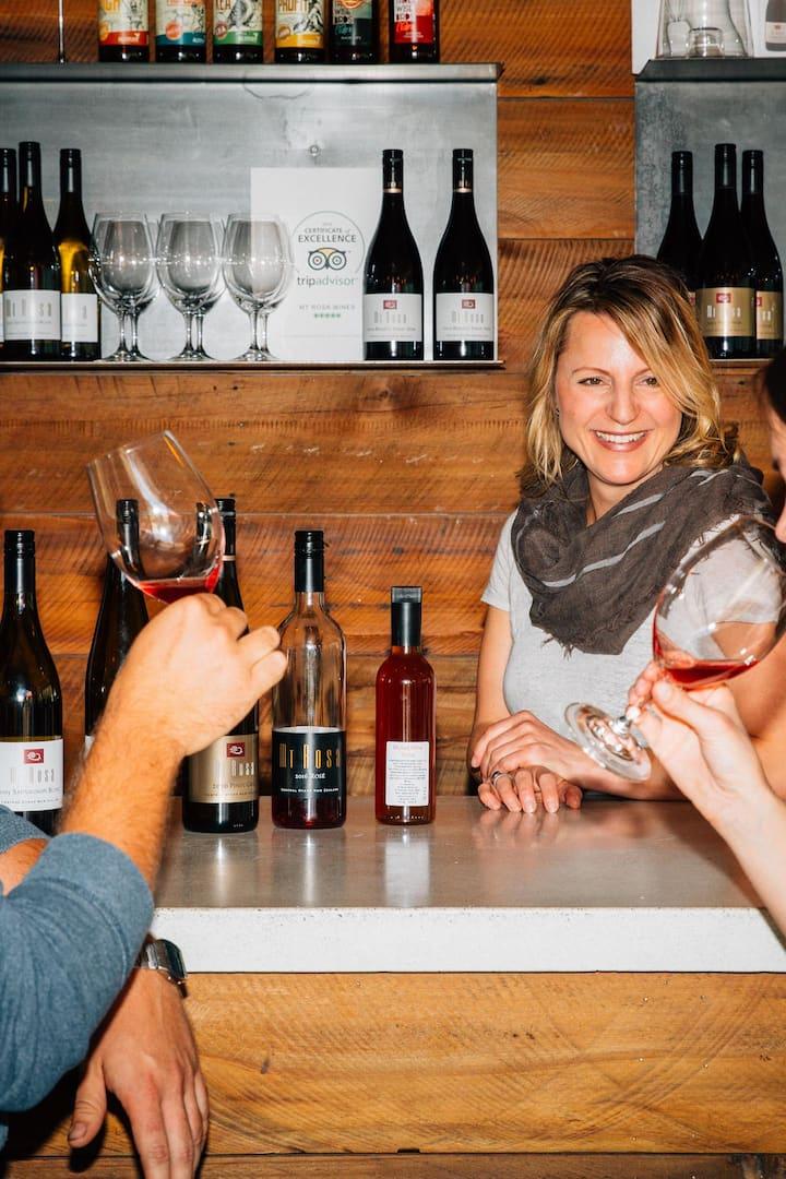 Guests tasting wines