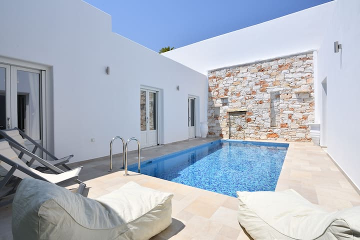 Villa Comfort with private pool,walking to Naoussa