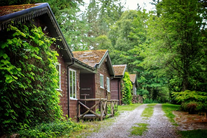 Garden lodges in a beautiful location
