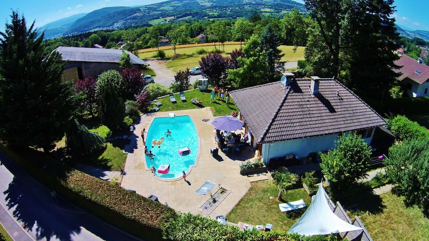 Lovely Family House with Pool around Annecy - Saint-Martin-Bellevue - House