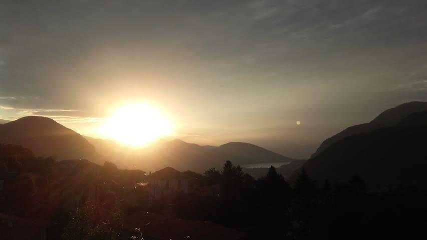 L'alba stamane