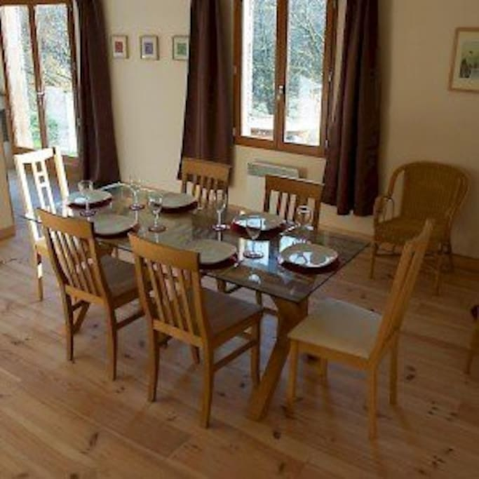 Dining area for family meals together.