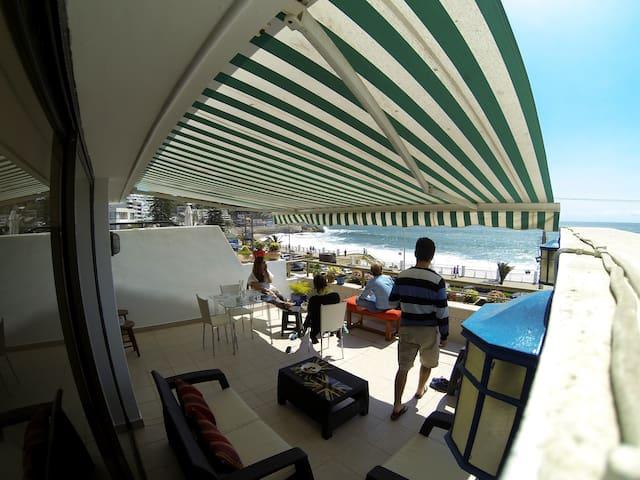 Vista panorámica, 1a línea, playa amarilla, Concón - Con Con
