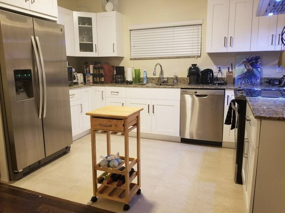 All Brand New Stainless Steel  Appliances. Also a Juicer!