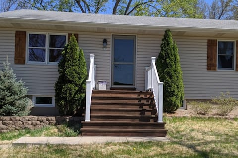 Updated Farmhouse  2 bd 2 acres