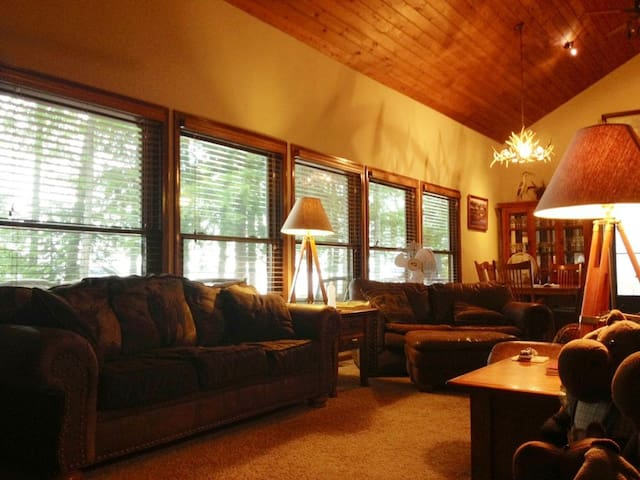 THE MANGY MOOSE LODGE, the perfect vacation home.