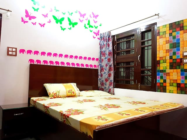 Home-stay Ground Floor: Bedroom, Bath & Terrace