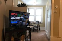 TV is Viewable from Most Areas of Apartment