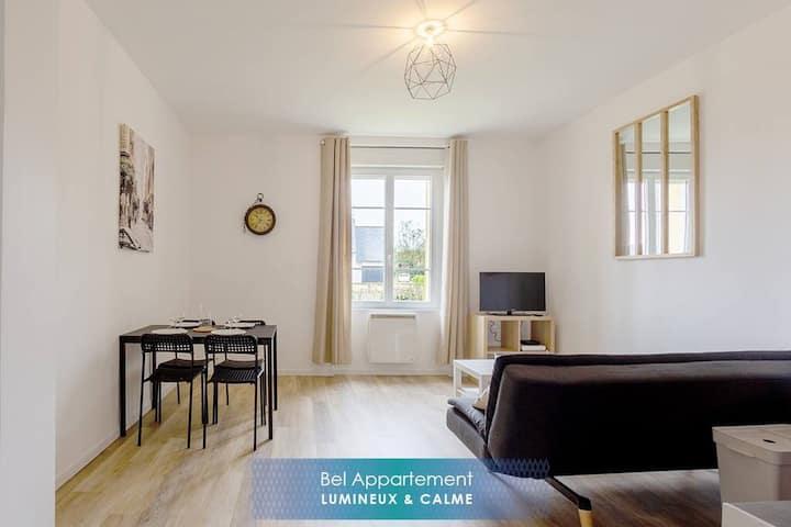 Kermaria, bel appartement lumineux 34m² au calme